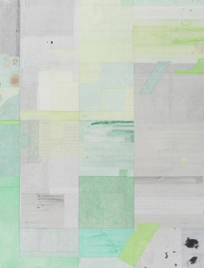 梁铨 《南山》160×122cm 色、墨、宣纸拼贴 2017  RMB:40万- 45万元