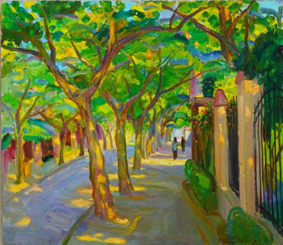 陈钧德 《上海街景》 70×80cm 布面油画 2002  RMB:28万元