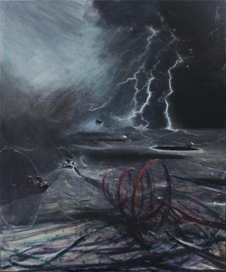 贾蔼力 《星辰隐者》 240×200 cm 布面油画 2017