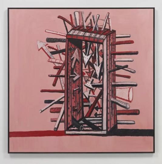 菲利普·加斯顿 《殉道者》174 x 175.9cm油彩画布1978
