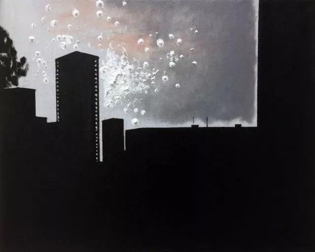 威廉·萨奈尔 《洛杉矶闹市》 40×50cm 布上油画 2017