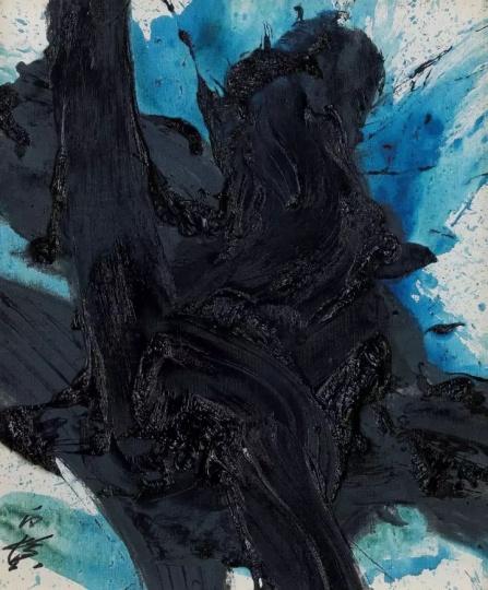 Kazuo Shiraga 《Shinseito》72.8 x 60.5 cmOil on canvas1991