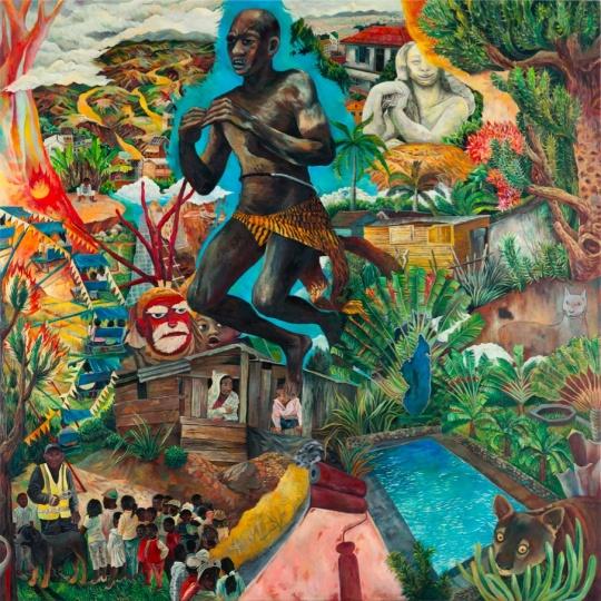 心中的马达加斯加 2016 布面油画 200×200cm×3