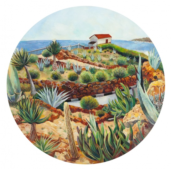 花园 2015 布面油画 D.80cm