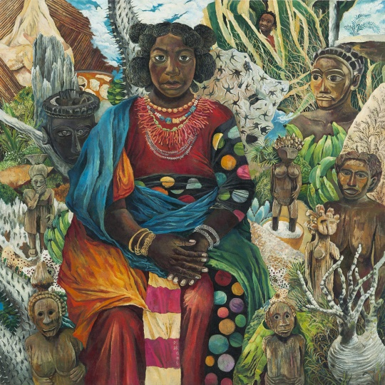 马达加斯加的自画像 2015 布面油画 120×120cm