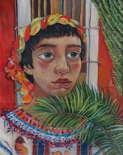 南美肖像 2014 布面油画 50×40cm