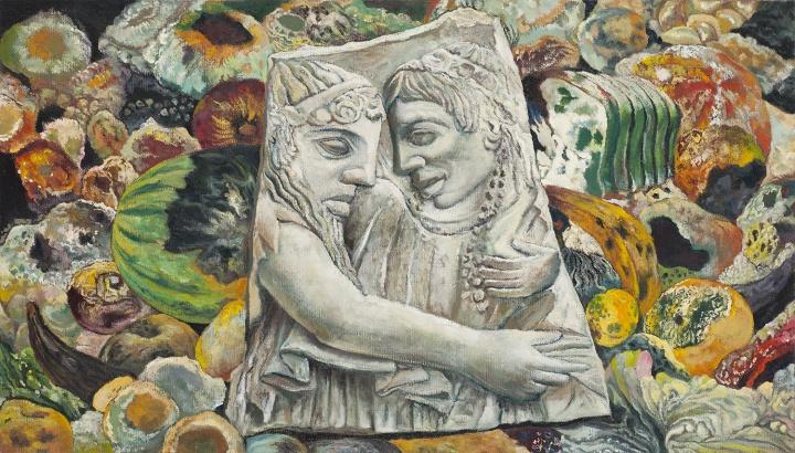 永恒的永恒,腐朽的腐朽 2015 布面油画 40×70cm
