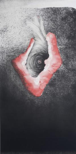 仇德树《红瘾在黑和白之间跳动》© Qiu Deshu