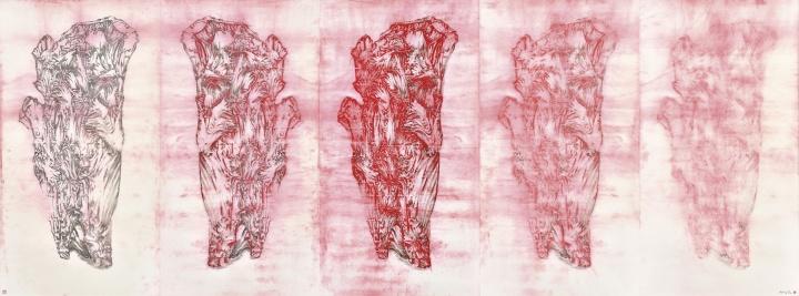 熊辉《绘画六法—传移摹写之四(熊海合作)》© Hung Fai