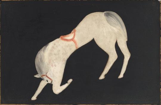常玉 《曲腿马》 35.5x55cm 木板油画 1930
