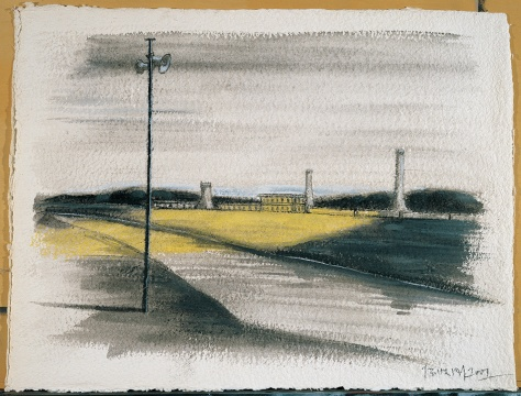 张晓刚《 失忆与记忆1号》 42x67cm 纸上油画 2008