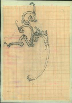 徐冰 《猴子捞月》手稿 SG575 38x26.5cm 硫酸纸、铅笔 2001