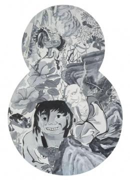 《迷宫-5》布面油画 异形框161×108cm 2014