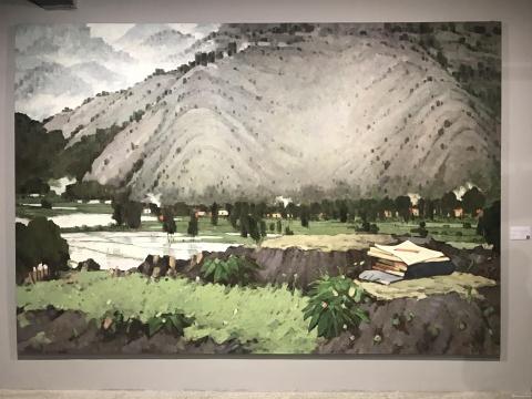 《毛泽东在井冈山》 257×376cm 布上油画2006