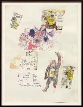 尚‧米榭‧巴斯奇亚 《 香港》 76.2×57cm 石墨,彩色铅笔、纸上拼贴 1985  估价:390万 -550万港元