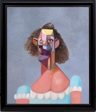 乔治·康多《蓝裙女子》127×106.5cm 布面油画2007年创作  估价: 300万 - 500万港元