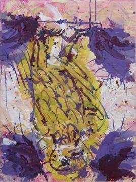 乔治·巴赛利兹《Hinterglasvogel》130 x 97cm 布面油画1997  估价: 200万 - 300万港元