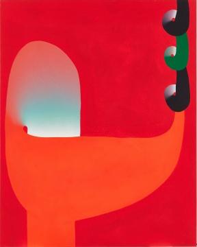 元永定正 《Yon Kuru》162.5×130.1cm 亚克力画布 1974  估价:130万 - 230万港元