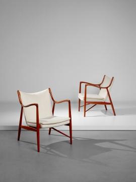 芬·祖尔 扶手椅一对,型号FJ 45 约1953年估价:25万 – 35万港元