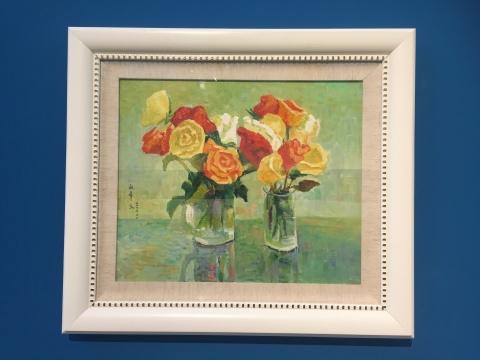 闵希文 《瓶花》51×61cm布面油画 2003.11