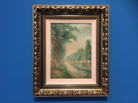胡粹中 《公园一景》30.5×23.5cm纸板油画 1951.04