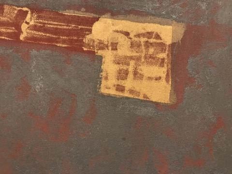 安东尼奥·迪亚斯《无题》(细节)75×240cm布面铜皮和丙烯 1985