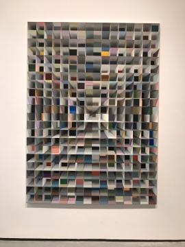 路易斯·泽尔比尼《无题(科尔梅亚酒店 II)》220×160cm布面丙烯2013