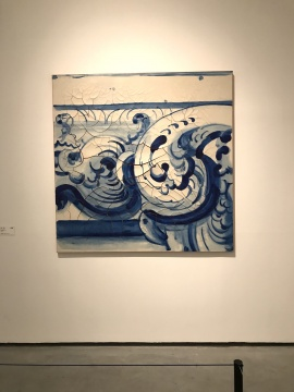 阿德里安娜·瓦雷让《青釉-色》 99×99cm布面油彩和石膏 2015