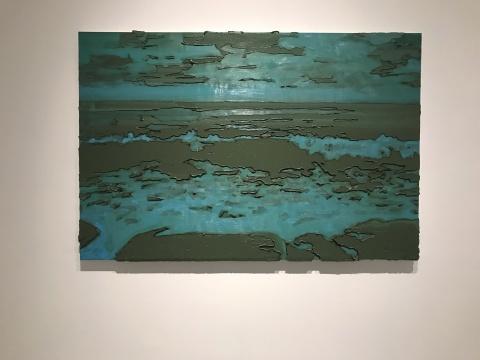 罗德里戈·安德拉德《碧蓝色波浪(森山大道)》120×180cm布面油彩,装裱在中密度纤维板之上 2014
