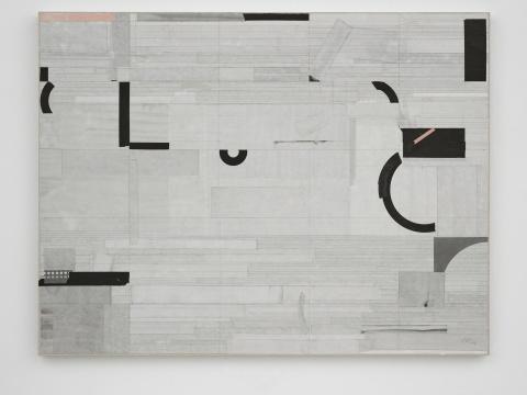 梁铨《荷塘II 》122×160cm色、墨、宣纸拼贴于宣纸2016
