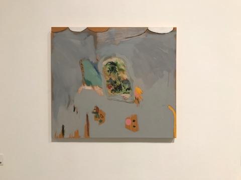 安娜·普拉塔《无题》80×90cm布面油彩 2014