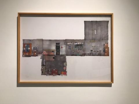 马秋莎《空间的故事—一个打工仔的起居室》 153×113cm数码打印 2007-2008