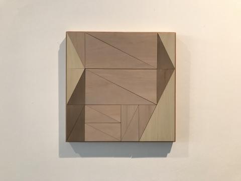 菲利普·科恩《系列-分割布光#13》37 × 37cm 木板绘画 2017