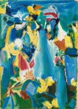 吴大羽《无题—106》51×36.5 cm 布面油画 约1980年  估价:RMB 5,500,000-6,500,000