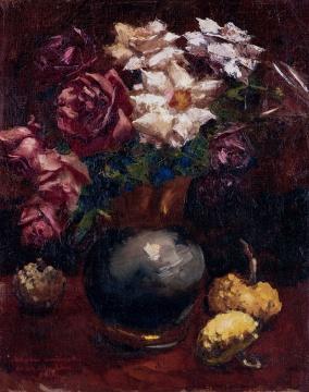 吴作人《蔷薇》 50×40cm布面油画 1934  估价:RMB 1,800,000-2,500,000
