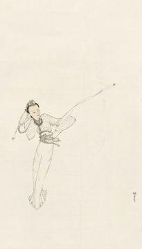庞薰琹 《春风动罗衣》 81×46cm纸本水墨  估价:RMB 250,000-350,000
