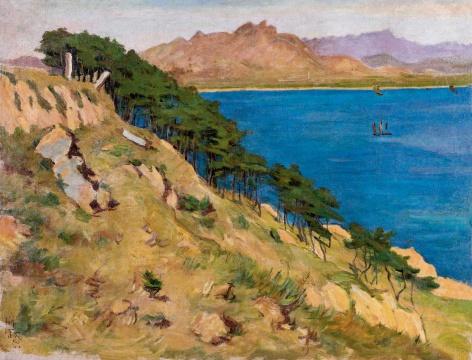 吕斯百 《海角》 62×82cm 布面油画 1948  估价:RMB 1,800,000-2,200,000