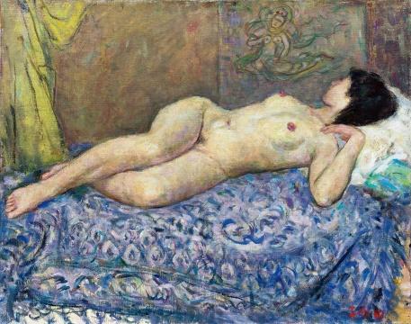 胡善馀 《躺着的女人体》 72×91cm 布面油画 1890  估价:RMB 550,000-650,000
