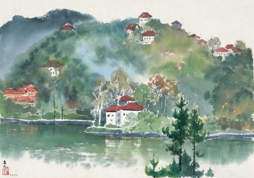 古元 《庐山小景》 27.5×40cm 纸本彩墨 1977  估价:RMB 80,000-120,000