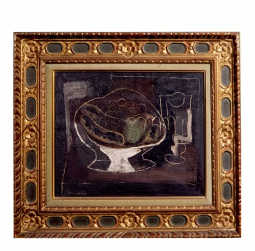让·苏弗尔皮 《高脚盘中的静物》 34×42cm布面油画 1915  估价:RMB 500,000-600,000