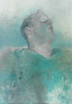 毛焰 《托马斯NO.2》 110×75cm 布面油画 2008  估价:RMB 1,000,000-1,500,000