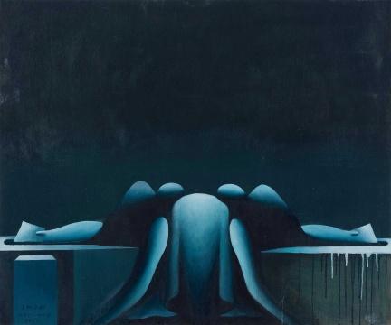 王广义 《后古典—马拉之死》 100×120cm 木板油画 1986  估价:RMB 1,500,000-2,000,000