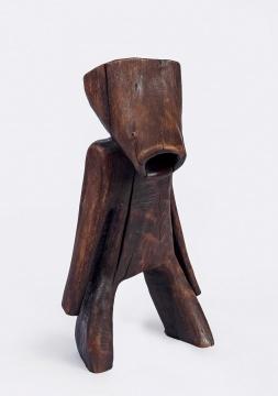 王克平 《小丫》 53.5×27.5×25cm 木雕 1988  估价:RMB 180,000-250,000