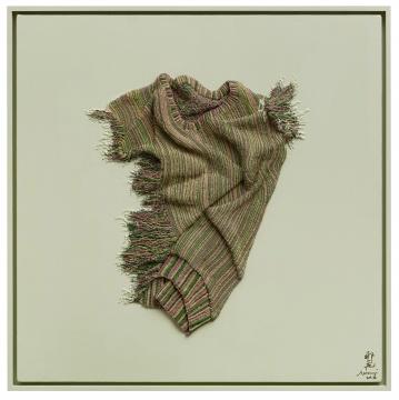 《温差-米黄绿1》 80×80cm 布面油画2016