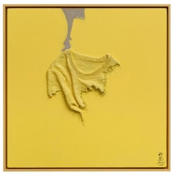 《温差-柠黄》 80×80cm 布面油画2016