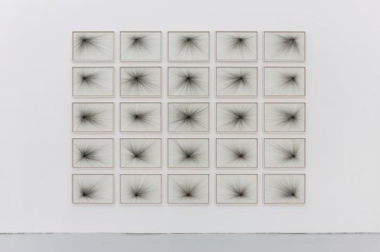 《负光矩阵》41.5×59 cm×25 纸上颜料墨 2017