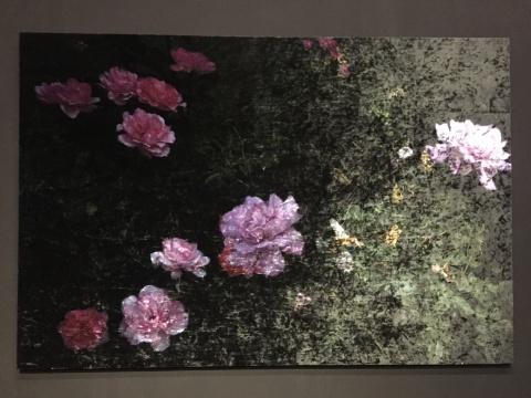 乔瓦尼·欧祖拉《Vanitas》系列作品,将拍摄的花朵印在天鹅绒上,呈现出一种别样的质感