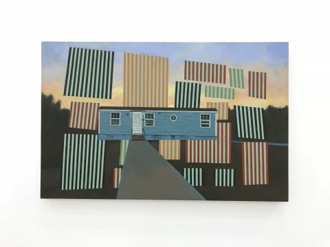 《后现代的日落》61x95cm 布面油画 2013