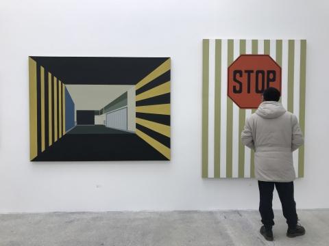《侏儒》(左)147.5x198cm 布面油画 2015