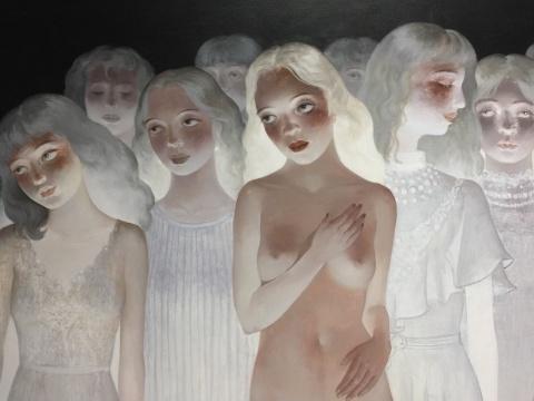 王小双 《维纳斯的身影》 140×180cm 布面丙烯 2015-2017(局部)